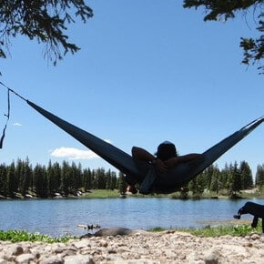 Hammocks by the lake