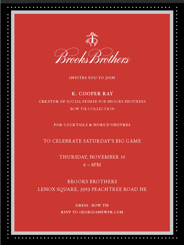 Brooks Brothers Tailgate Bow Tie Event in Atlanta