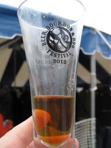 The 2012 Beer, Bourbon & BBQ Festival Tasting glass. Cheers!
