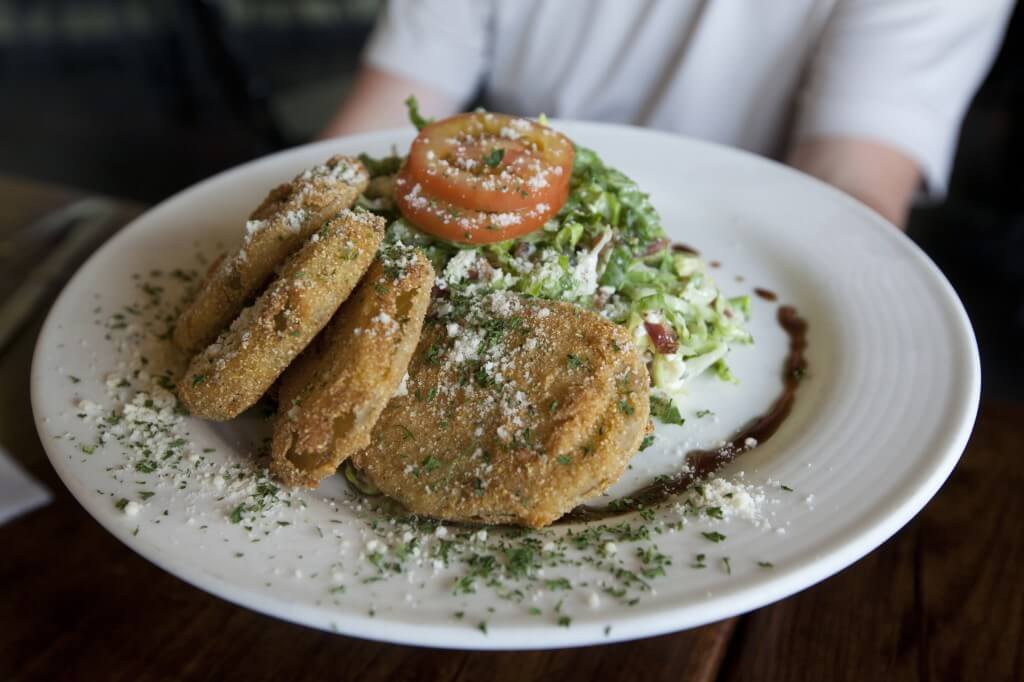 Rico's Fried Green Tomato Salad