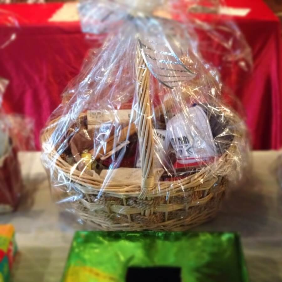 Raffling off The Man Basket